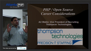 PHP / Open Source Career Considerations