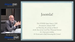 Joomla, The OTHER Open Source Content Management System